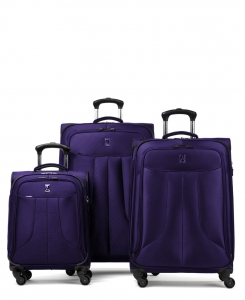 Travelpro Anthem Select 3pc Luggage Set, Dark Purple.